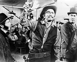 File photo dated 24/09/71 of Kirk Douglas in a scene from the film A Gunfight, who is celebrating his 100th birthday today.