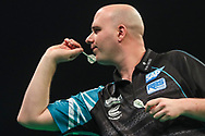 Rob Cross during the Unibet Premier League darts at Motorpoint Arena, Cardiff, Wales on 20 February 2020.