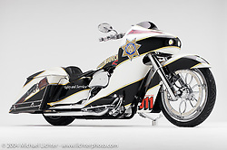"""Ness Patrol,"" theme bike by Arlen Ness. Appears in the book ""The King of Choppers,"" by Michael Lichter and Arlen Ness."