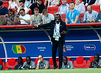 Aliou CissŽ (coach of Senegal) <br /> Moscow 19-06-2018 Football FIFA World Cup Russia  2018 <br /> Poland - Senegal / Polonia - Senegal <br /> Foto Matteo Ciambelli/Insidefoto