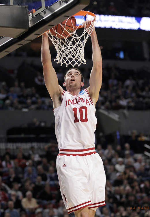 15 March 2012: Indiana Forward Will Sheehey (10)  as the New Mexico State Aggies played the Indiana Hoosiers in the Second Round of the NCAA Division I Men's Basketball Championship at the Rose Garden in Portland, OR.
