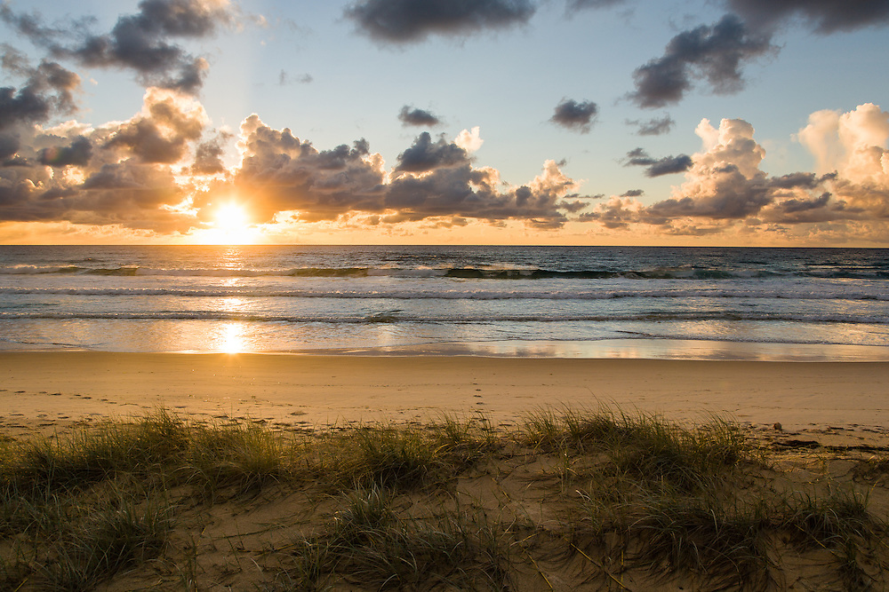 Sunrise on the eastern beach. Moreton Island National Park