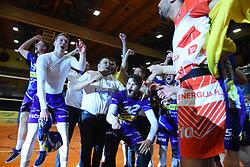Players of OK Merkur Maribor celebrating as National Champions after winning 1. DOL final match between OK Merkur Maribor and ACH Volley, on April 25, 2021 in Dvorana Tabor, Maribor, Slovenia. Photo by Milos Vujinovic / Sportida