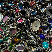 Jewelry for sale in one of the many tiny stores of Istanbul's historic Grand Bazaar