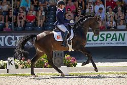Van Liere Dinja, NED, Hermès<br /> World ChampionshipsYoung Dressage Horses<br /> Ermelo 2018<br /> © Hippo Foto - Stefan Lafrentz<br /> 05/08/2018