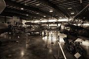 Interior of main hangar at WAAAM.