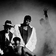 Sly and Robbie Silent Assasin Cover photosession with KRS1 - New York 1989