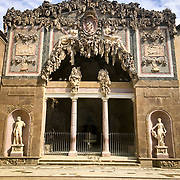 """The Boboli Garden, a park behind the Pitti Palace, contains fake caverns filled with statues designed to look like a sacred grotto. The Grotta Grande has fake stalactities and contains replicas of Michelangelo's """"Prisoners"""" statues."""