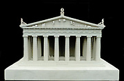 Reconstruction of the west pediment of the Parthenon according to a drawing by K. Schwerzek (1896), Acropolis museum, Athens