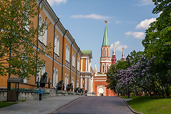 stock photo of a side view of the kremlin