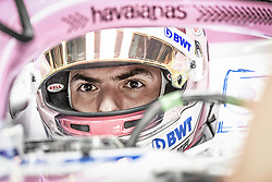 November 9, 2018 - Sao Paulo, Brazil - LATIFI Nicolas (can), Racing Point Force India F1 VJM11, portrait , cockpit, helmet, casque, during the 2018 Formula One World Championship, Brazil Grand Prix from November 08 to 11 in Sao Paulo, Brazil -  FIA Formula One World Championship 2018, Grand Prix of Brazil World Championship;2018;Grand Prix;Brazil  (Credit Image: © Hoch Zwei via ZUMA Wire)