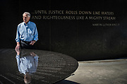 MONTGOMERY, AL -- 5/25/17 -- Even at age 80, Morris Dees still comes into the office daily. The attorney has made a career taking down racist organizations and hate groups over the years, and has created an infrastructure to continue that work well into the future. Dees stands in front of the Civil Rights Memorial, commissioned by the SPLC and dedicated in 1989,<br /> Civil Rights attorney Morris Dees co-founded the Southern Poverty Law Center in 1971. The group has taken on the Ku Klux Klan and fought for against hate for decades, but is now facing criticism that it has labeled some groups without just cause..…by André Chung #_AC29852