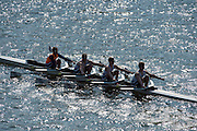 Chiswick, London, Great Britain.<br /> Reading RC. ASchool/Jun Quad. competing at the 2016 Schools Head of the River Race, Reverse Championship Course Mortlake to Putney. River Thames.<br /> <br /> Thursday  17/03/2016<br /> <br /> [Mandatory Credit: Peter SPURRIER;Intersport images]