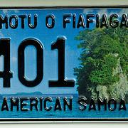 License plate of American Samoa.
