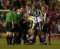 Fotball - Premier League - 05.03.2003<br /> Middlesbrough v Newcastle 1-0<br /> Jonathan Woodgate - Titus Bramble (19) - Alan Shearer - Newcastle<br /> Foto: Digitalsport