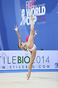 Czarniecka Anna during qualifying at ball in Pesaro at World Cup at Adriatic Arena on April 11, 2014. Anna is a Poland gymnast was born on April 10,1995 in Gdynia.