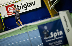 Gasper Bezjak in action during Slovenian National Tennis Championship 2019, on December 21, 2019 in Medvode, Slovenia. Photo by Vid Ponikvar/ Sportida