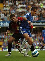 Photo: Tony Oudot.<br /> Chelsea v Blackburn Rovers. The FA Barclays Premiership. 15/09/2007.<br /> Joe Cole of Chelsea challenges Brett Emerton of Blackburn to the ball
