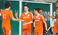 ROTTERDAM -  Jasper Tukkers (Neth.)  (m) scored .   Practice Match Hockey : Netherlands Boys U18  v England U18 .  COPYRIGHT KOEN SUYK