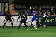 AFC Wimbledon midfielder Chris Whelpdale (11) during the The Emirates FA Cup 1st Round Replay match between AFC Wimbledon and Bury at the Cherry Red Records Stadium, Kingston, England on 15 November 2016. Photo by Stuart Butcher.