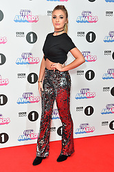 Tilly Keeper attending the BBC Radio 1 Teen Wards, at Wembley Arena, London. Picture date: Sunday October 22nd, 2017. Photo credit should read: Matt Crossick/ EMPICS Entertainment.