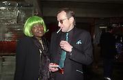Millie Laws and Michael Wojas. Launch B.B.C. Four, Fashion St. London. © Copyright Photograph by Dafydd Jones 66 Stockwell Park Rd. London SW9 0DA Tel 020 7733 0108 www.dafjones.com