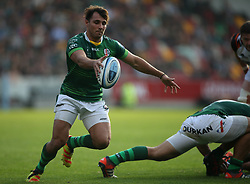 London Irish's Nick Phipps kicks clear during the Gallagher Premiership match at the Brentford Community Stadium, London. Picture date: Saturday October 9, 2021.