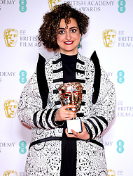 Maryam Mohajer with the award for British Short Animation in the press room at the 73rd British Academy Film Awards held at the Royal Albert Hall, London.