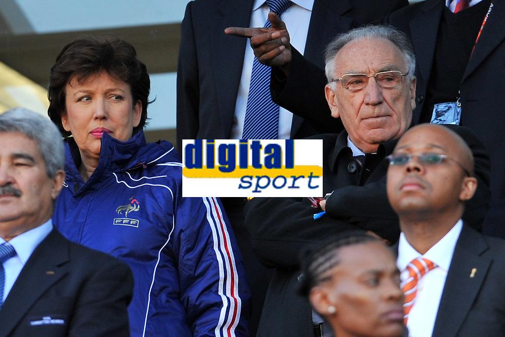 FOOTBALL - FIFA WORLD CUP 2010 - GROUP STAGE - GROUP A - FRANCE v SOUTH AFRICA - 22/06/2010 - PHOTO FRANCK FAUGERE / DPPI - ROSELYNE BACHELOT (FRANCE SPORT MINISTER) / JEAN PIERRE ESCALETTES (FFF PDT)