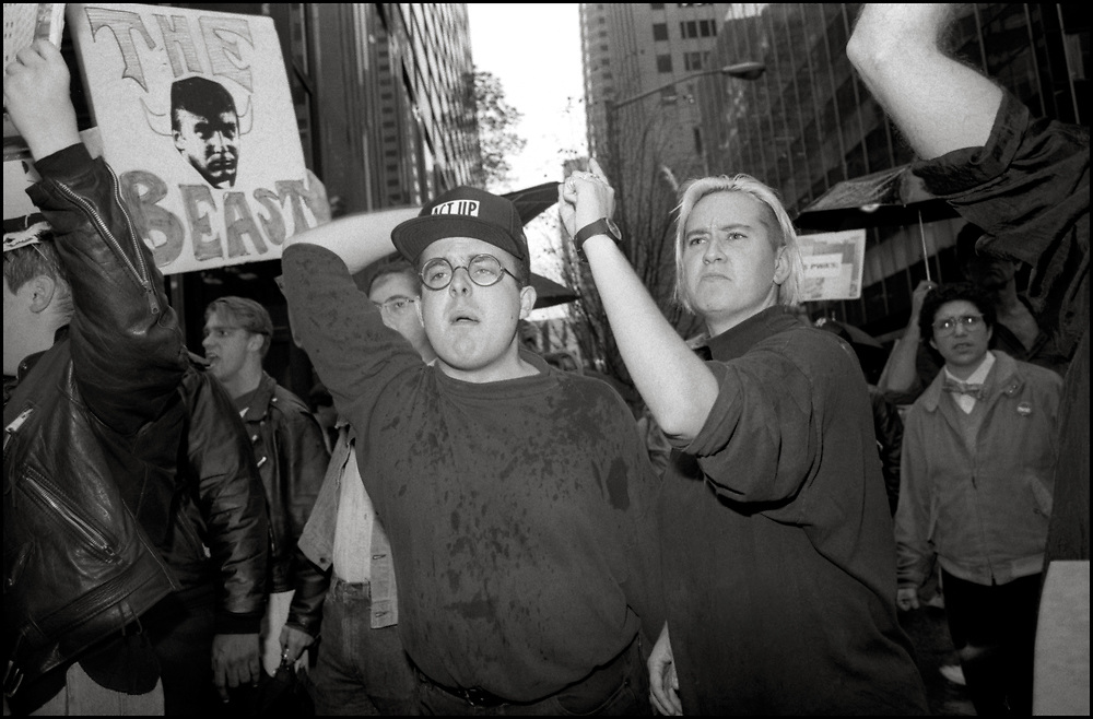 On Oct. 31, 1989, roughly 100 protesters from the AIDS activist group ACT UP New York descended on Trump Tower at 5th Avenue and 56th Street. The Trump Tower protest was organized by ACT UP's Housing Committee, which hoped to draw attention to the lack of housing for homeless people with AIDS.
