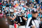 December 24, 2016: Carolina Panthers vs Atlanta Falcons. Cam Newton, Kelvin Benjamin