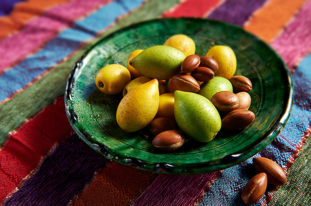 Fresh Argan nuts with outer skins and Argan nuts in their shells .<br /> <br /> Visit our MOROCCO HISTORIC PLACES PHOTO COLLECTIONS for more   photos  to download or buy as prints https://funkystock.photoshelter.com/gallery-collection/Morocco-Pictures-Photos-and-Images/C0000ds6t1_cvhPo