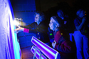 Marcie Archer O'Connor '73 and staff and students from the biology department host Lighting for Moths, with UV lights attracting dozens of beautiful native moths.