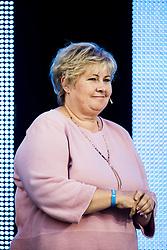 September 23, 2017 - Bergen, NORWAY - 170923 Erna Solberg, Prime Minister of Norway, during the award ceremony after the Women Elite Road Race on September 23, 2017 in Bergen..Photo: Jon Olav Nesvold / BILDBYRN / kod JE / 160028 (Credit Image: © Jon Olav Nesvold/Bildbyran via ZUMA Wire)