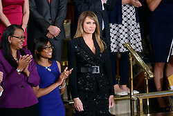 First Lady Melania Trump attends U.S. President Donald J. Trump first address to a Joint Session of Congress on Tuesday, February 28, 2017 at the Capitol in Washington, DC. Photo by Olivier Douliery/ Abaca