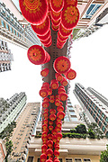 Paper lanterns in Lee Tung Avenue, Hong Kong.
