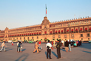 MEXICO, MEXICO CITY Zocalo, the city's main square and heart of the colonial city; the National Palace, 17-18thC and office of the president