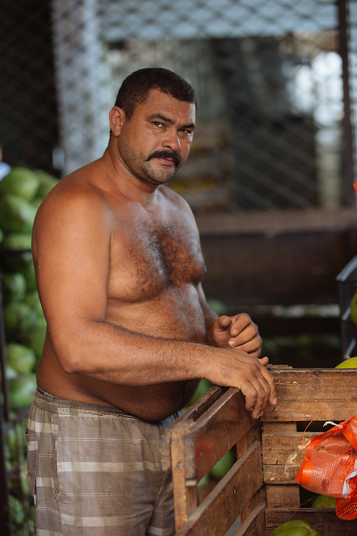 Word has it that this man can open a coconut with his bare hands.