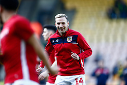 Andreas Weimann of Bristol City warming up ahead of - Mandatory by-line: Phil Chaplin/JMP - FOOTBALL - Carrow Road - Norwich, England - Norwich City v Bristol City - Sky Bet Championship