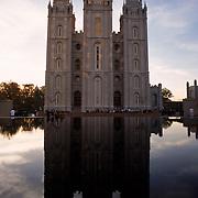 The Mormon Temple in Salt Lake City.
