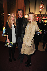 TV presenter ANDREW CASTLE and his wife SOPHIA with their daughter CLAUDIA at the gala opening night of Cirque du Soleil's Varekai at the Royal Albert Hall, London on 5th January 2010.