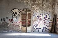Terme del Corallo or Acque della salute.One wall of the Sala Mescita