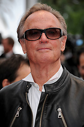 File photo - Peter Fonda arriving for the screening of the film 'La Conquete' (The Conquest) presented out of competition as part of the 64th Cannes International Film Festival, at the Palais des Festivals in Cannes, southern France on May 18, 2011. Peter Fonda, the star, co-writer and producer of the 1969 cult classic Easy Rider, has died at the age of 79. Peter Fonda was part of a veteran Hollywood family. As well as being the brother of Jane Fonda, he was also the son of actor Henry Fonda, and father to Bridget, also an actor. Photo by Hahn-Nebinger-Genin/ABACAPRESS.COM