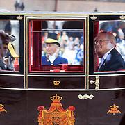 NLD/Den Haag/20110920 - Prinsjesdag 2011, vertrek Mr. Pieter van Vollenhoven en Pr. Margriet en Pr. Constantijn en Pr. Laurentien