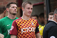 Stephen Darby (C) (Bradford) during the The FA Cup match between Bradford City and Chesham FC at the Coral Windows Stadium, Bradford, England on 6 December 2015. Photo by Mark P Doherty.