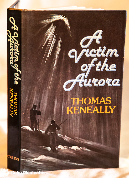 A Victim of the Aurora - Thomas Keneally, 1st edn 1977, VG hardback with VG+ jacket, Collins, Sydney, no internal marks - murder on a pressure cooker of an Antarctic exepdition, the first venture into fiction for this famous Australian author. $NZ45.