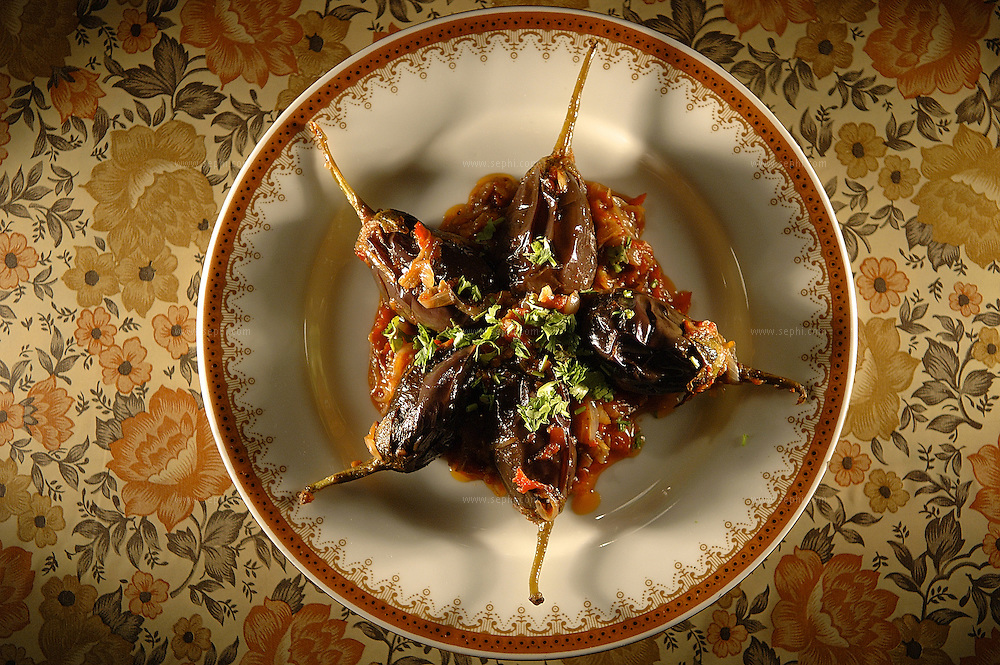 Barwa Baingan - stuffed eggplant ( Recipe available upon request )