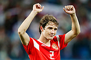 Russia Mario Fernandes celebrates the victory after the 2018 FIFA World Cup Russia, Group A football match between Russia and Egypt on June 19, 2018 at Saint Petersburg Stadium in Saint Petersburg, Russia - Photo Stanley Gontha / Pro Shots / ProSportsImages / DPPI