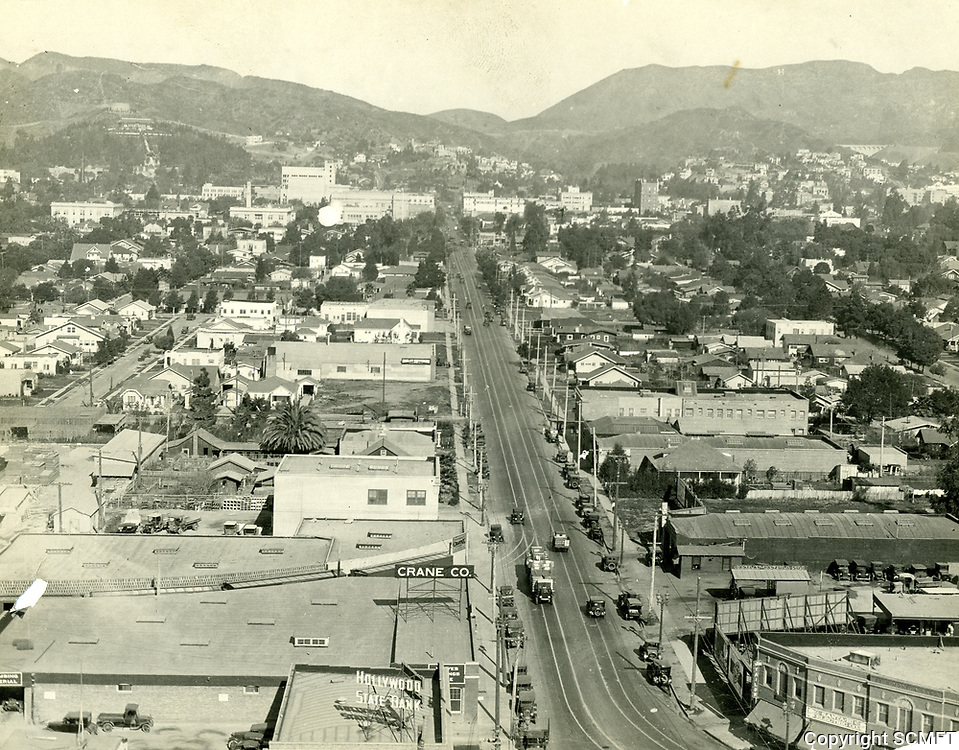 1929 Looking north from Highland Ave. at Santa Monica Blvd.