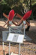 Israel, Haifa, The Clandestine Immigration and Navy Museum IAI Looz Anti-ship missile on display